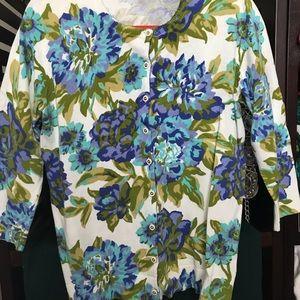 Isaac Mizrahi Shaded Blue Cardigan Like New